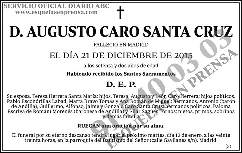 Augusto Caro Santa Cruz